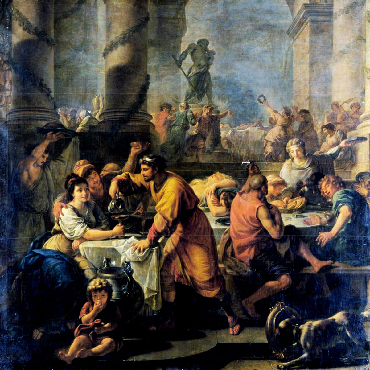 Painting of Saturnalia by Cntoine Callet