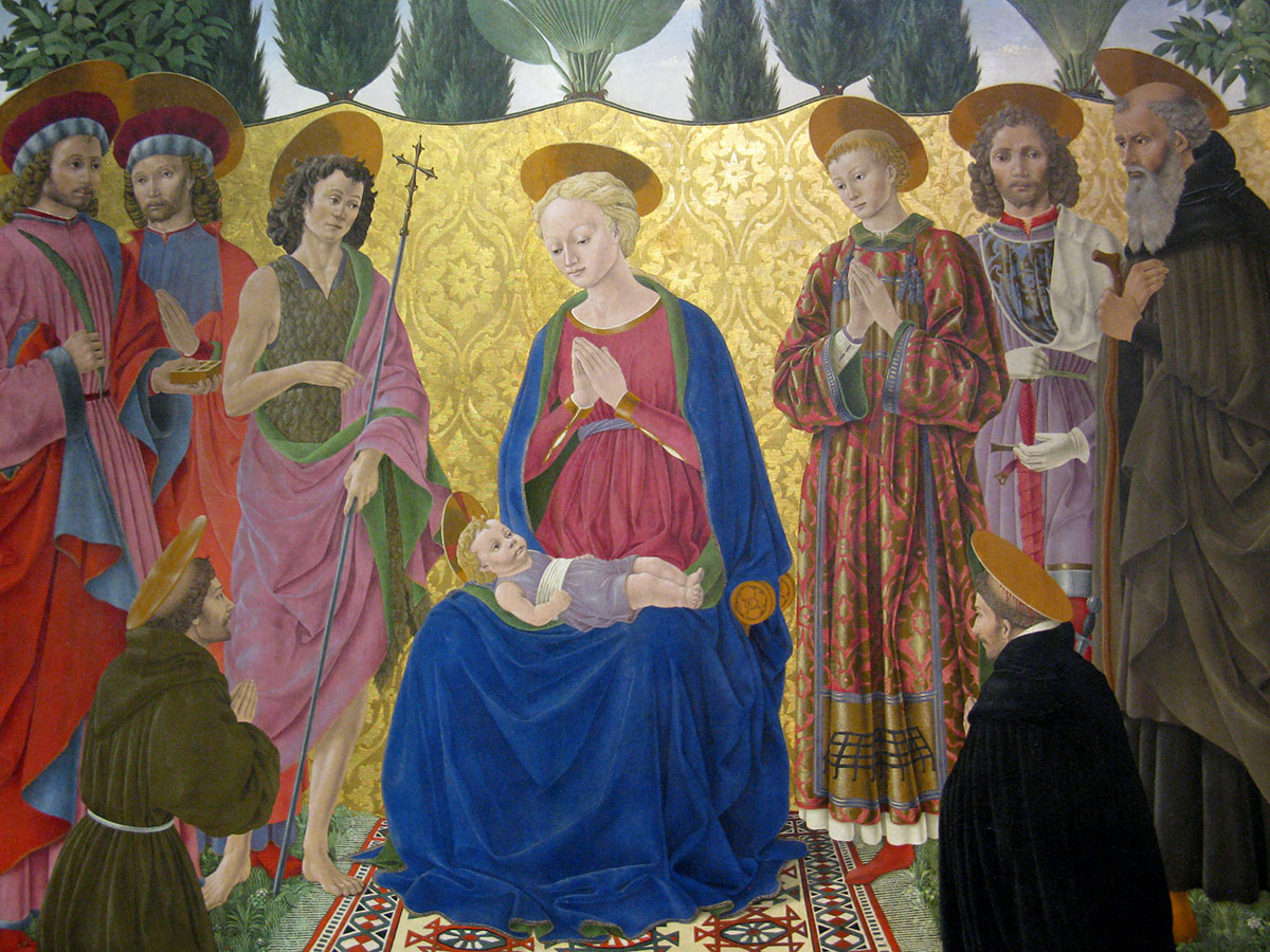 Alesso: Madonna with Child and Saints in the Uffizi Gallery