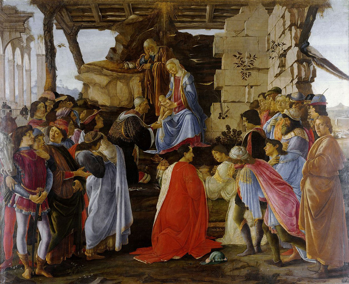 Botticelli: Adoration of the Magi in the Uffizi Gallery