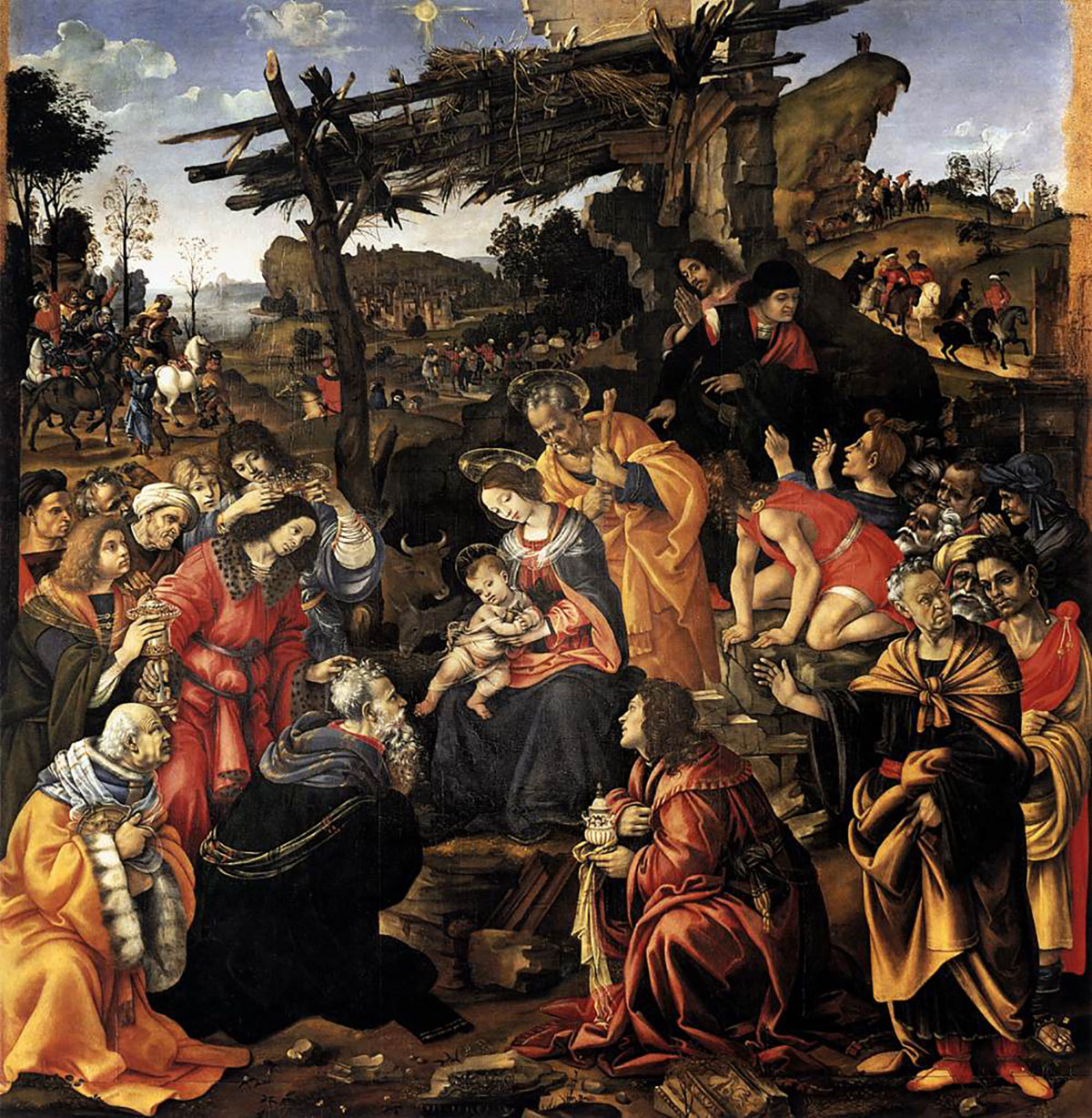 Filippino Lippi: Adoration of the Magi in the Uffizi Gallery