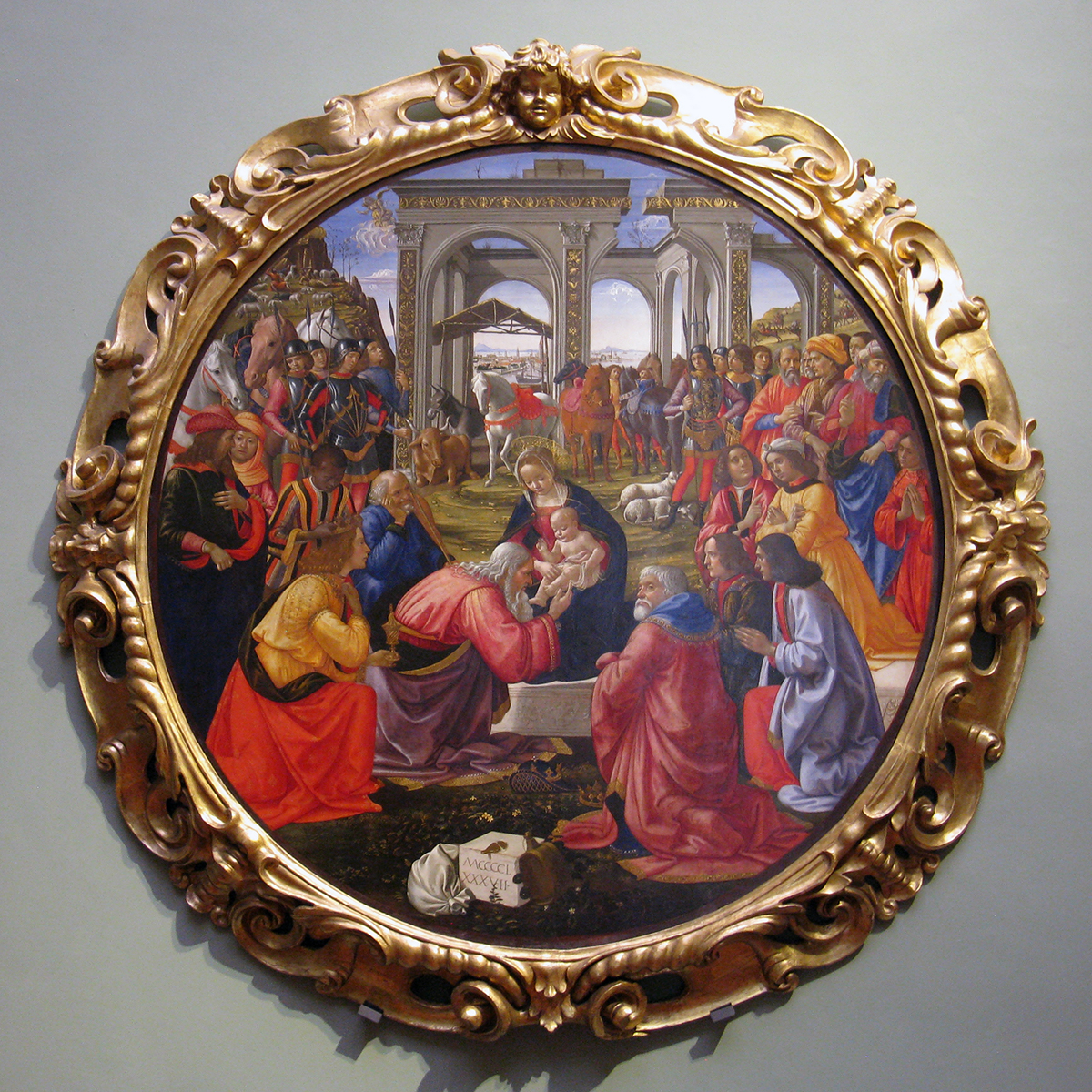 Ghirlandaio: Adoration of the Magi in the Uffizi Gallery