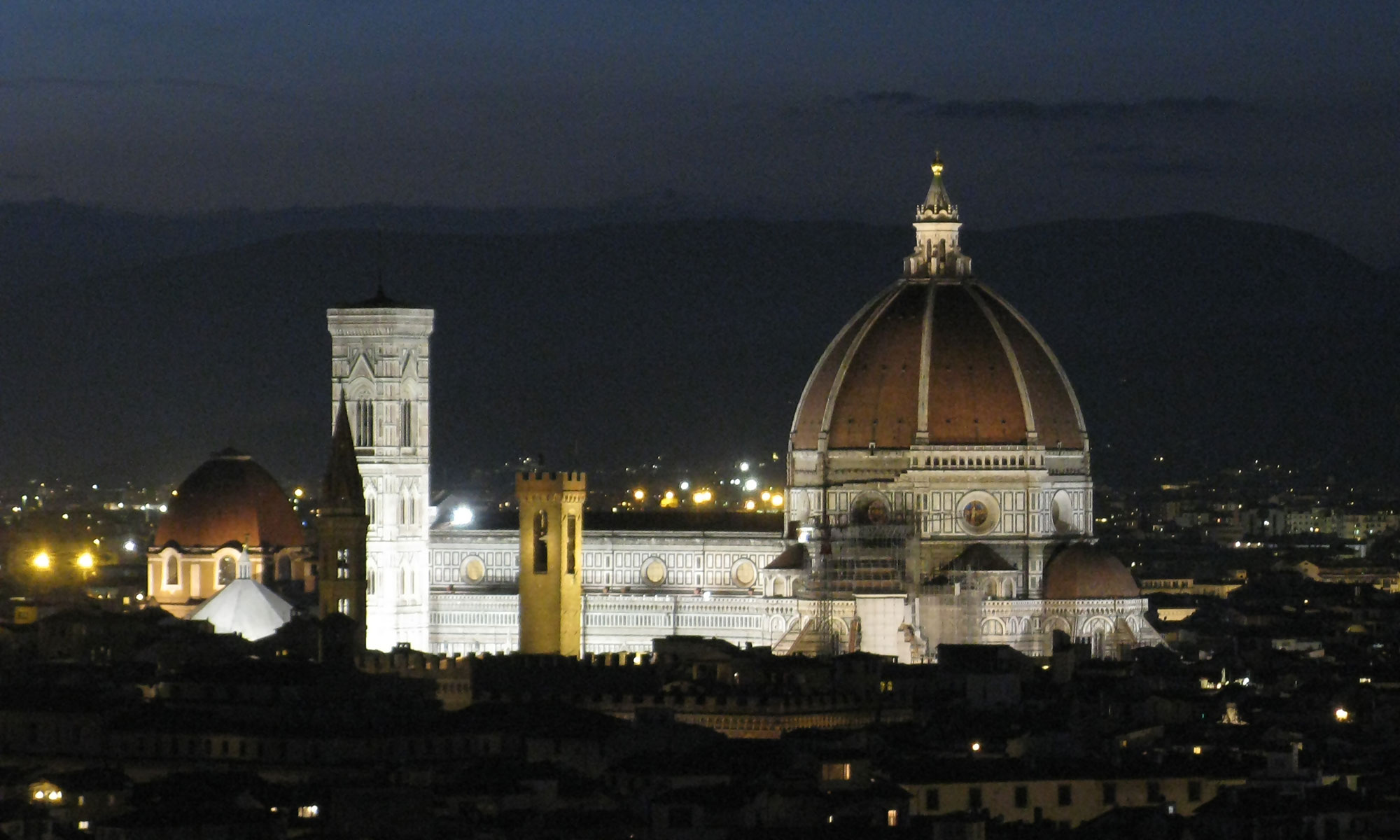 Duomo of Florence Italy at night