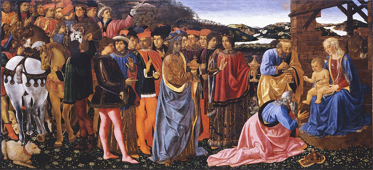 Rosselli: Adoration of the Magi in the Uffizi Gallery