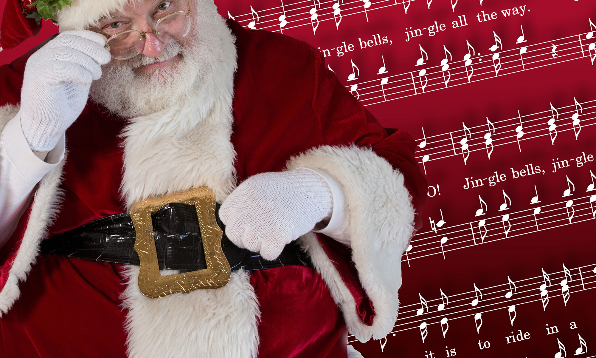 Santa Claus with Jingle Bells carol sheet music