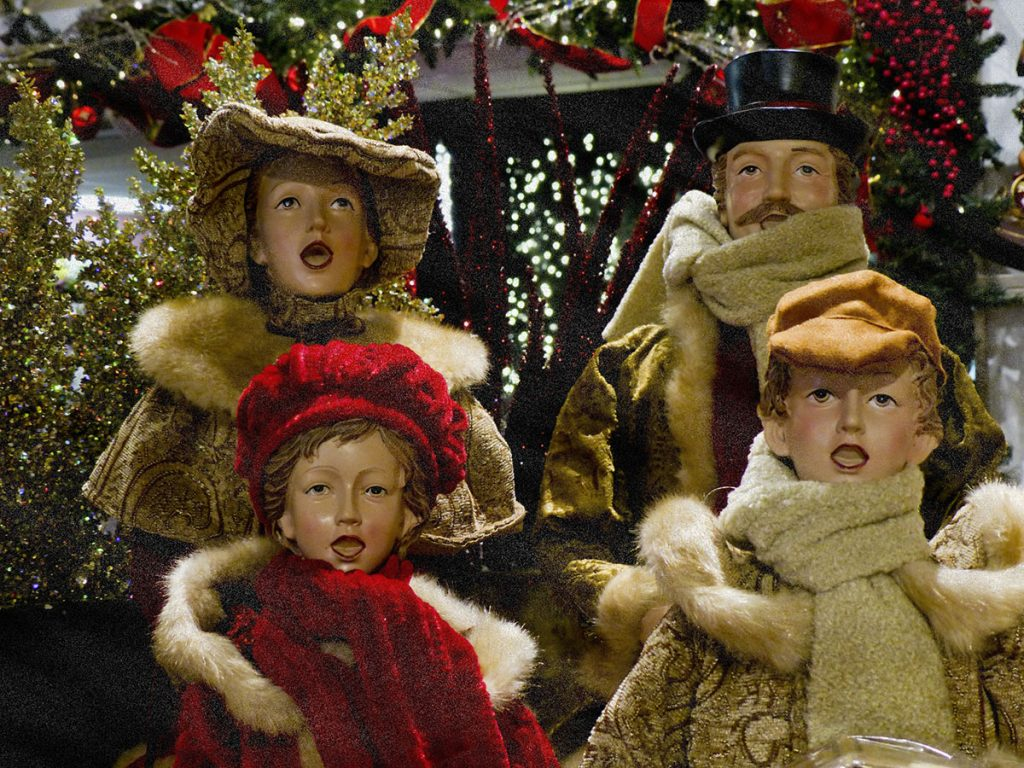 Carolers in the Snow