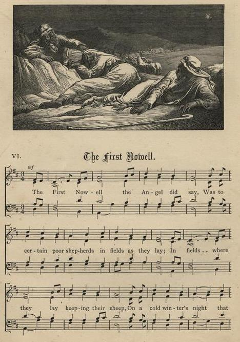 Carol sheet music, The First Noël