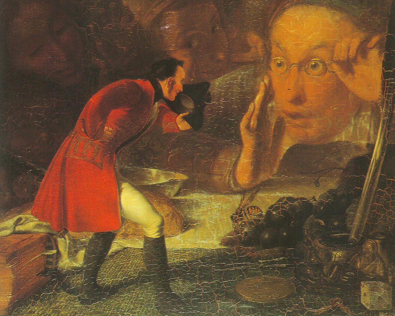 Gulliver with Brobdingnag farmer