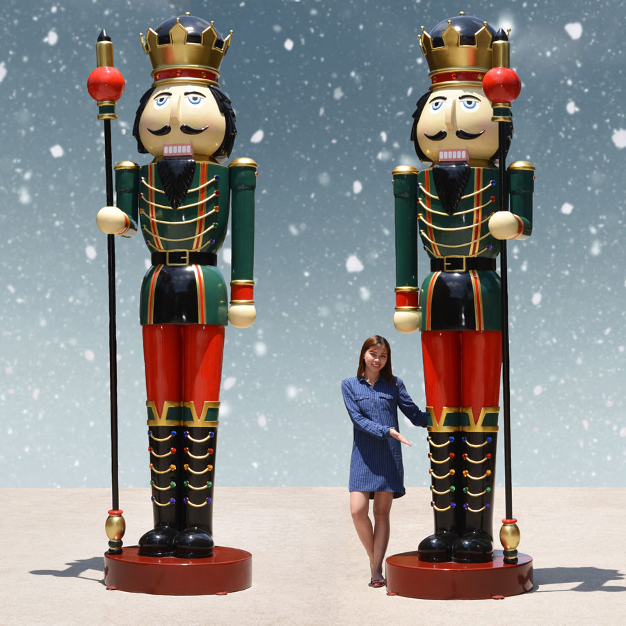 Girl with giant nutcrackers